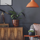 Retro grey living room interior - PhotoDune Item for Sale