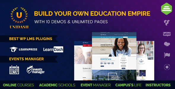 Unidash - WordPress Theme for University and Online Education - Education WordPress