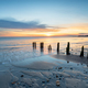 Sunrise at Sandsend Beach in Yorkshire - PhotoDune Item for Sale