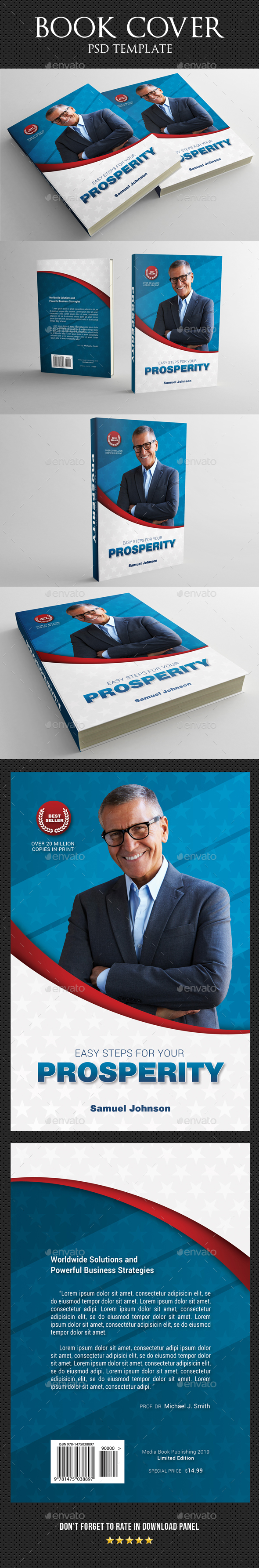 Book Cover Template 54 - Miscellaneous Print Templates
