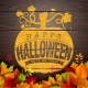 Happy Halloween Banner Illustration with Autumn - GraphicRiver Item for Sale