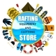 Vector Rafting Equipment and Clothing Store Emblem - GraphicRiver Item for Sale