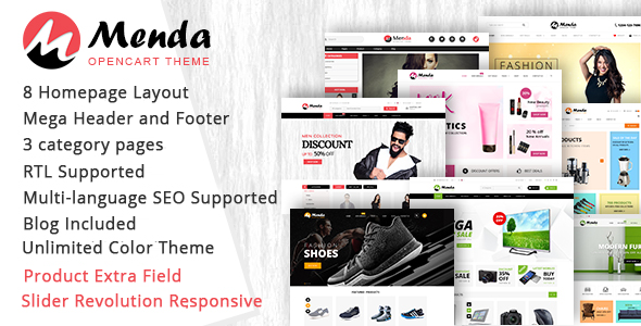 Menda - Advanced Opencart Theme - OpenCart eCommerce