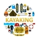 Kayaking Icon Set Vector Isolated Illustration - GraphicRiver Item for Sale