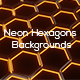 Neon Hexagons Backgrounds - GraphicRiver Item for Sale