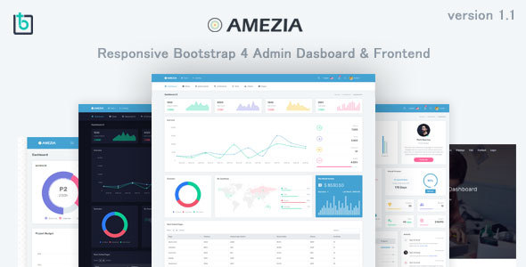 Amezia - Responsive Admin & Dashboard Template