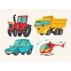 Hand Drawn Cartoon Vehicles - GraphicRiver Item for Sale