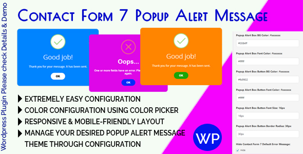 Contact Form 7 Popup Alert Message            Nulled