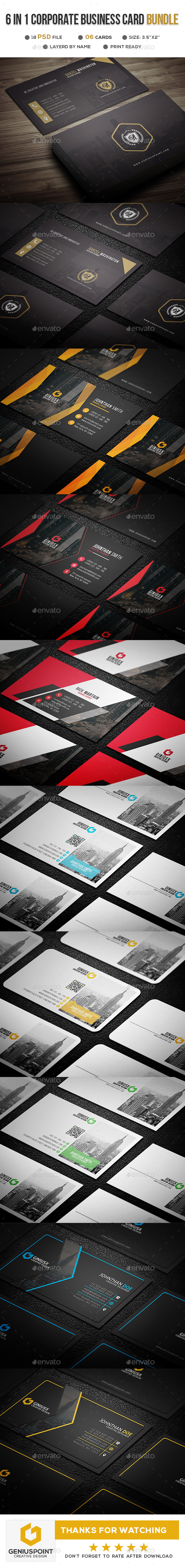 BIG BUNDLE VOL.01 - Business Cards Print Templates