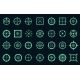 Game Target Cross Icons - GraphicRiver Item for Sale