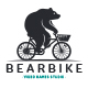 Bear Bike Logo Template - GraphicRiver Item for Sale