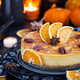 Delicious pumpkin and orange cheesecake decorated with caramel s - PhotoDune Item for Sale