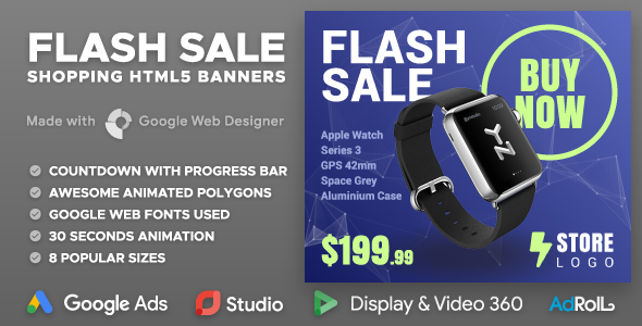 Flash Sale - Shopping Multipurpose HTML5 Banners (GWD)            Nulled
