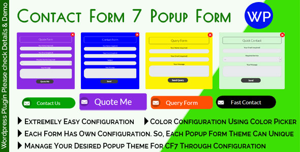 Contact Form 7 Popup Form            Nulled