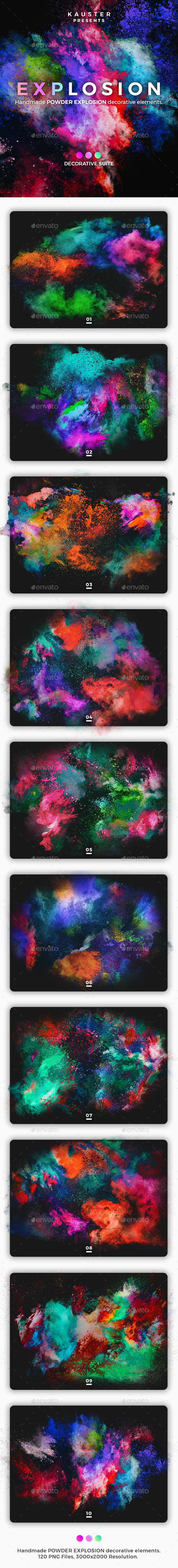 Powder Explosion Decorative Suite - Abstract Backgrounds
