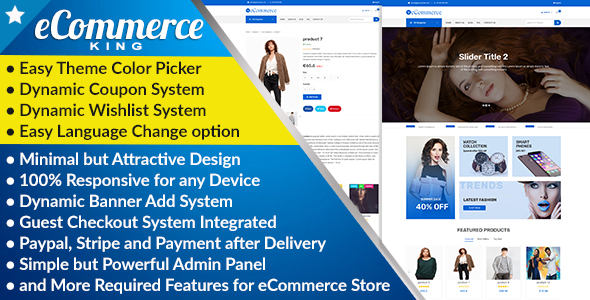 eCommerceKING - All in One eCommerce Business Management Script            Nulled