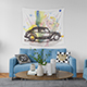 Tapestry in Living Room - Many Sizes - GraphicRiver Item for Sale