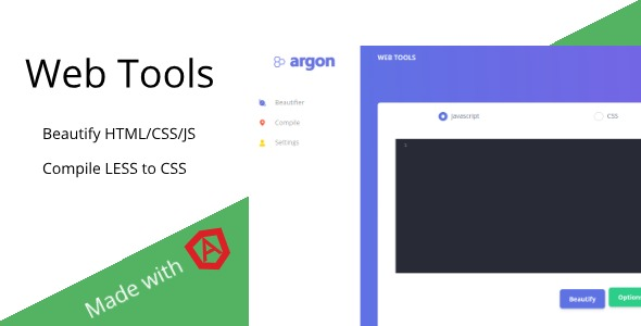 Web Tools - Beautify HTML/JS/CSS & Compile LESS            Nulled