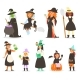 Halloween Witches with Broom - GraphicRiver Item for Sale