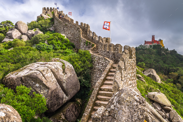 Sintra, Portugal Castles - Stock Photo - Images