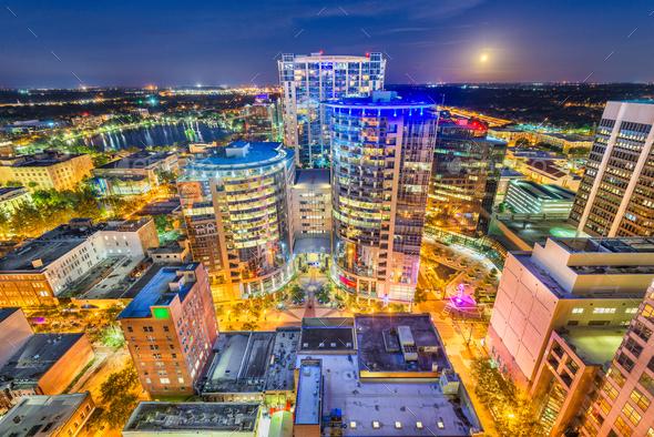 Orlando, Florida, USA Skyline - Stock Photo - Images