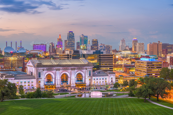 Kansas City, Missouri, USA Skyline - Stock Photo - Images