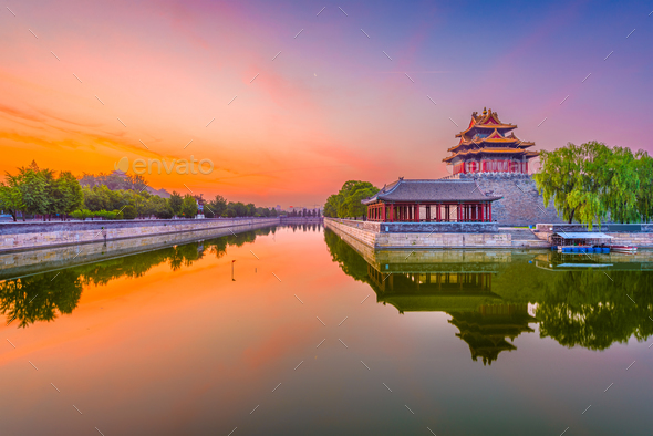 Beijing, China Forbidden City Moat - Stock Photo - Images