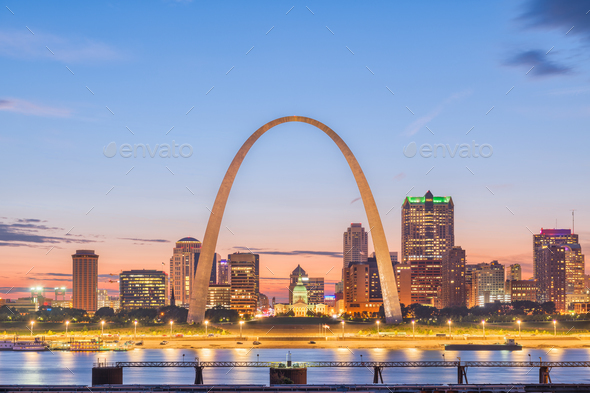 St. Louis, Missouri, USA Skyline - Stock Photo - Images