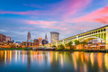 Cleveland, Ohio, USA downtown city skyline on the Cuyahoga River - PhotoDune Item for Sale