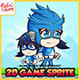 Hero Mask Blue - 2D Game Character Sprites - GraphicRiver Item for Sale