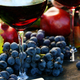Closeup of glasses of red wine and grapes - PhotoDune Item for Sale