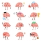 Brain Emotion Vector Cartoon Character - GraphicRiver Item for Sale