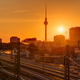 Sunset at the famous Television Tower  - PhotoDune Item for Sale