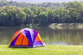 Dome tent camping at lake side _-10 - PhotoDune Item for Sale
