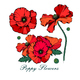 Red Poppy Flowers - GraphicRiver Item for Sale
