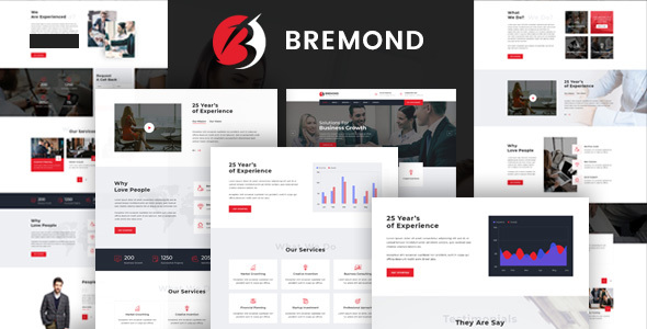 Bremond - Business Consulting and Professional Services HTML Template