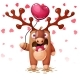 Deer with Heart Balloon - GraphicRiver Item for Sale