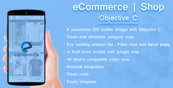 iOS E-Commerce template | Objective C