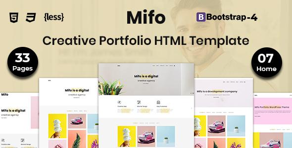 Mifo - Creative Portfolio HTML Template - Portfolio Creative