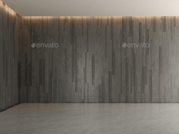 Interior empty room 3D rendering - Stock Photo - Images