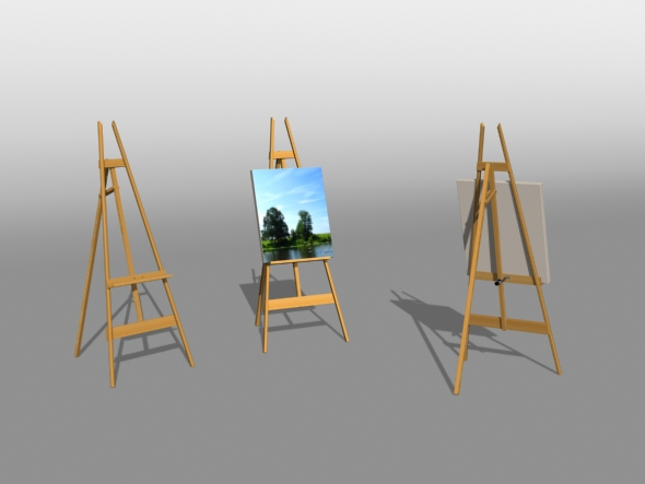 Artist Easel - 3DOcean Item for Sale