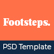Footstep Personal Blog PSD Template - ThemeForest Item for Sale