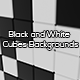 Black and White Cubes Backgrounds - GraphicRiver Item for Sale
