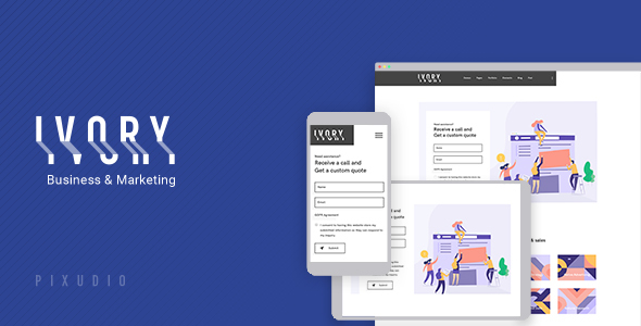 Ivory - Multipurpose Gutenberg Theme for Business and Marketing + RTL - Business Corporate