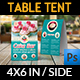 Cake Shop Table Tent Template Vol.4 - GraphicRiver Item for Sale