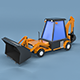 Low Poly Excavator Loader