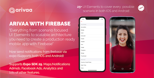Arivaa Built with Firebase (React Native and Expo) - CodeCanyon Item for Sale