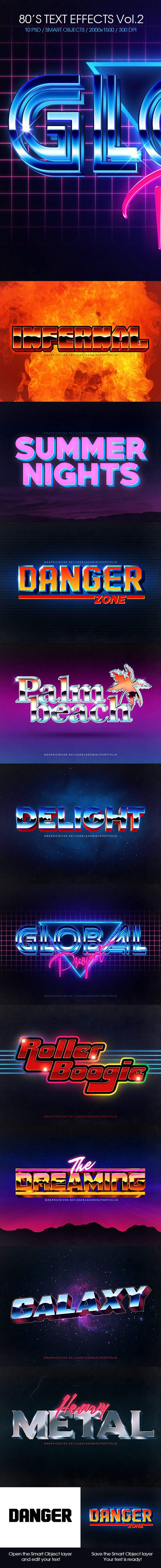 80's Text Effects Vol.2