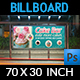 Cake Shop Billboard Template Vol.5 - GraphicRiver Item for Sale