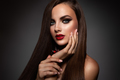 Beauty Model Woman with Long Brown Hair. - PhotoDune Item for Sale